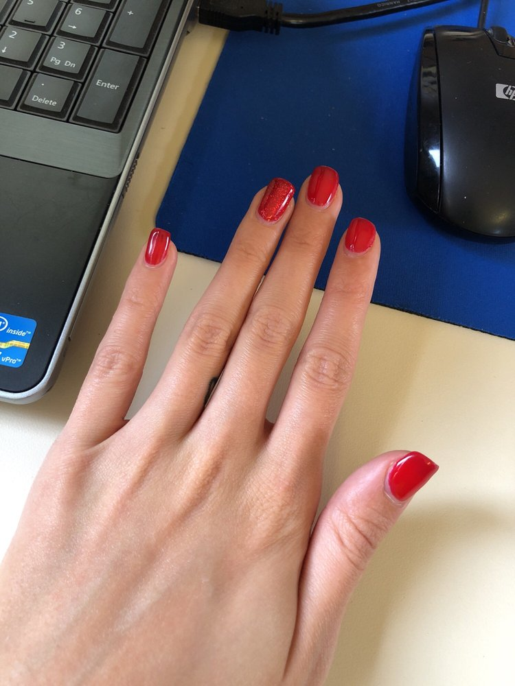 10 days after the manicure!! My cuticles grow back really fast so ...