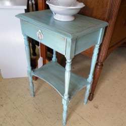 Photo Of East Bay Consignment   Warren, RI, United States. Blue Painted  Table