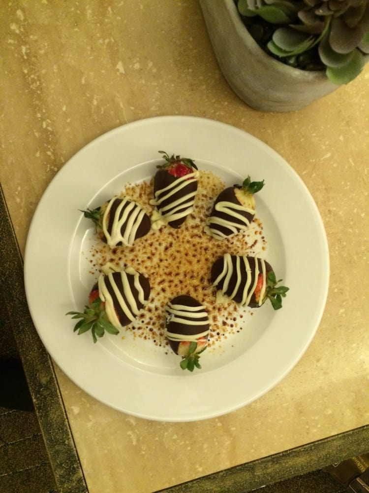 Chocolate Dipped Strawberries Part Of Our Package Yelp