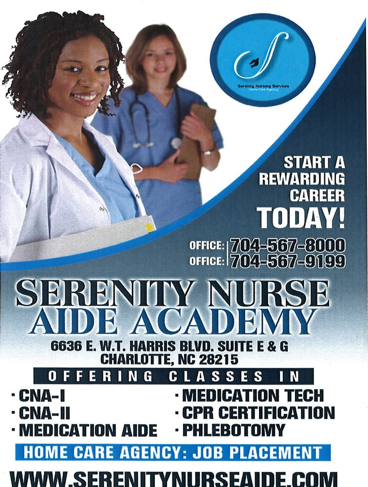 Serenity Nurse Aide Academy Home Health Care 6636 E Wt Harris