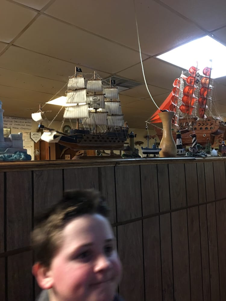 Love the old school decorations in this place yelp for Scotty s fish and chips