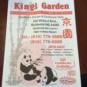 ... Photo Of King Garden   Richmond, MO, United States. Menu Front ...