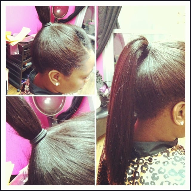 Full Sew In Able To Pull Into A High Ponytail Yelp