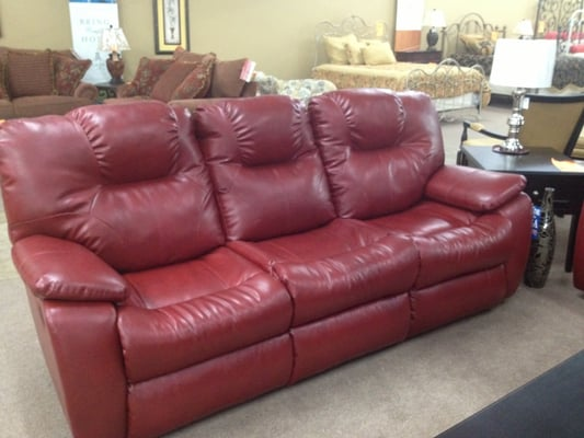 Photo Of Cadwell Furniture Co Ga United States Red Leather Reclining
