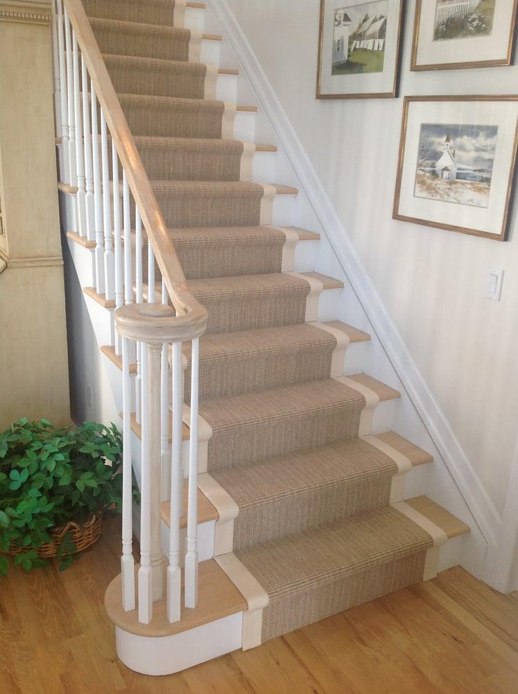 Wide Cotton Binding With Wilton Wool Stair Runner. Hamptons ...