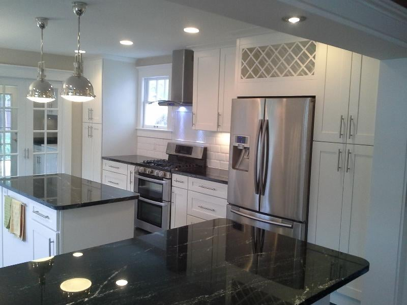White shaker kitchen cabinets round rock texas yelp for Kitchen remodeling round rock