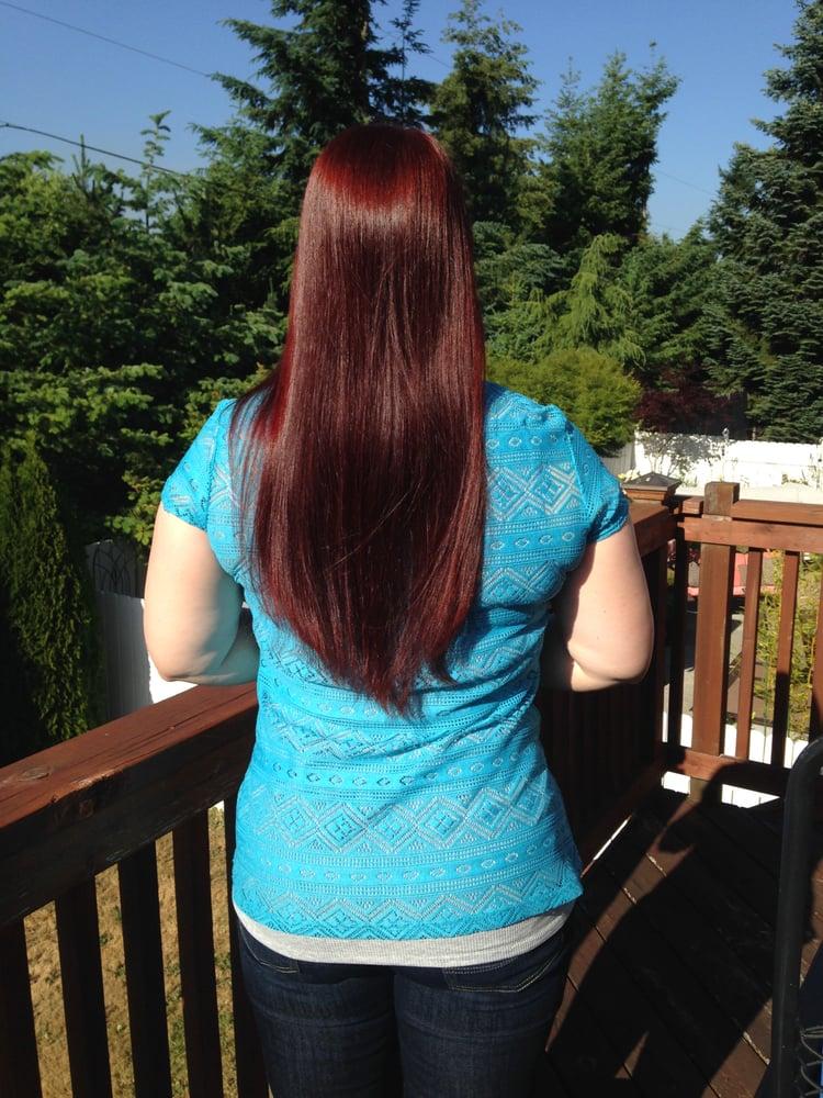 Red Raj On Dark Blonde Natural Hair 2 Years Of Applications