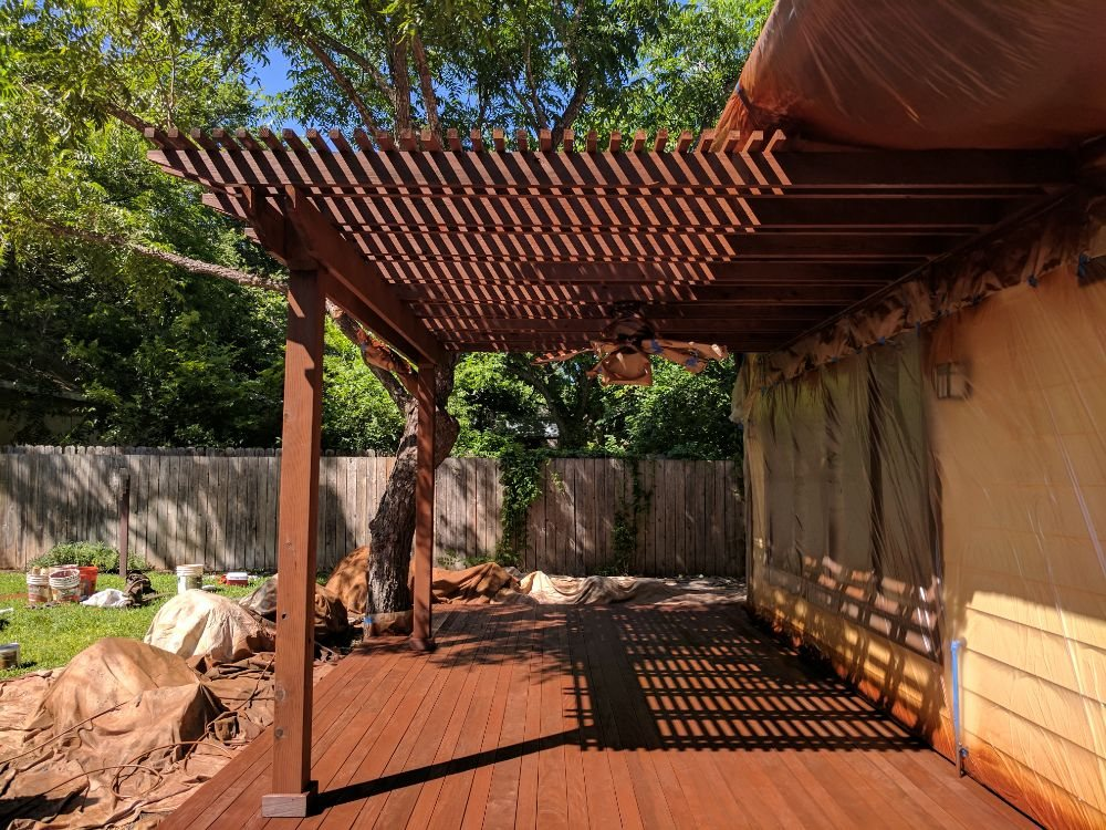 An Ipe Deck And Adjoining Pergola We Brought Back To Life