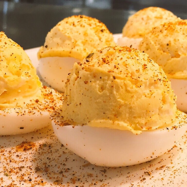 ... - Tysons Corner, VA, United States. Blackened Old Bay Deviled Eggs