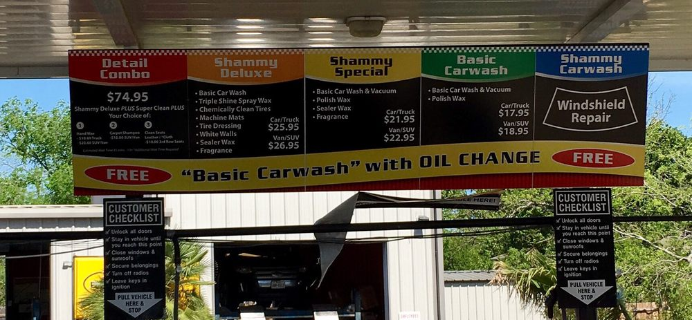Shammy Car Wash Oil Change