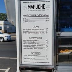 Mapuche Food Truck Menu