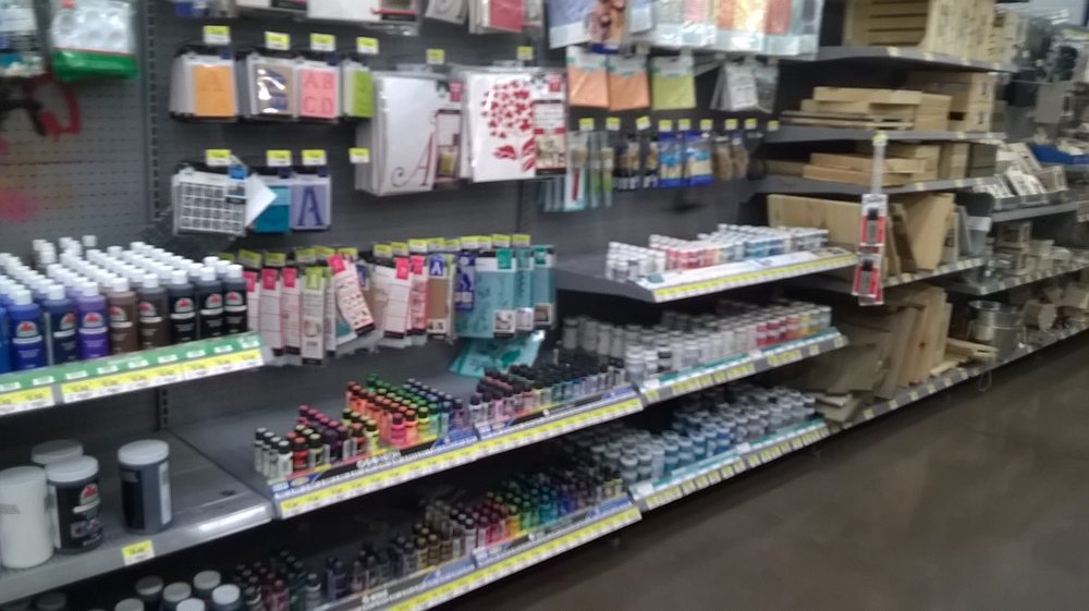 Huge and well stocked arts and crafts section at this for Walmart arts and crafts