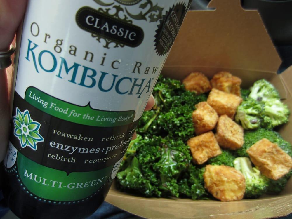 Kombucha Broccoli Crisp Chicken Fried Tofu Kale Seaweed Salad