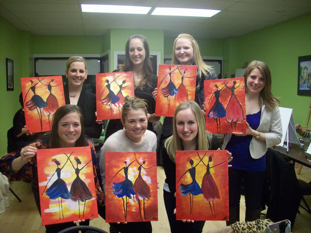 Byob painting class yelp for Painting class chicago