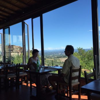 Photo of bel soggiorno san gimignano siena italy restaurant with a view