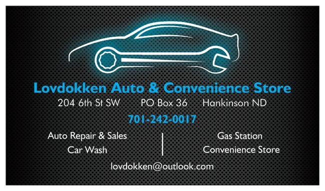 Lovdokken Auto & Convenience Store: 204 6th St SW, Hankinson, ND