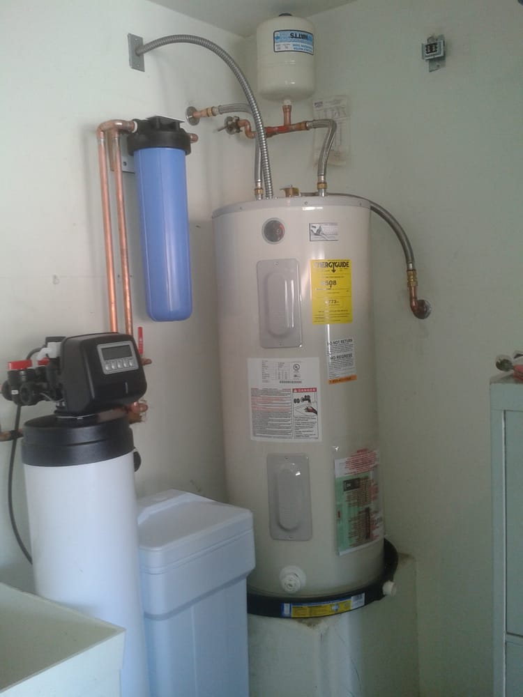 New Water Softener Whole House Filter Water Heater With