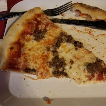 Photo Of Old Log Cabin Inn   Columbia, NJ, United States. Meatball Pizza