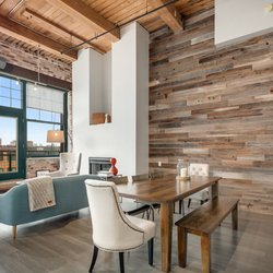 Photo Of Habitar Design Chicago Il United States Reclaimed Lumber Wall And