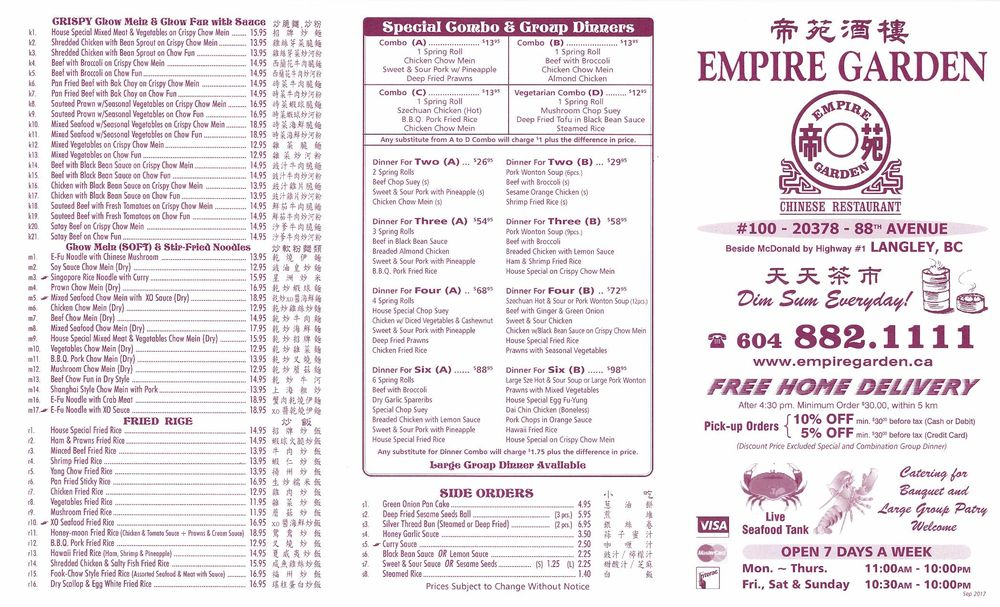Empire Garden Restaurant Langley