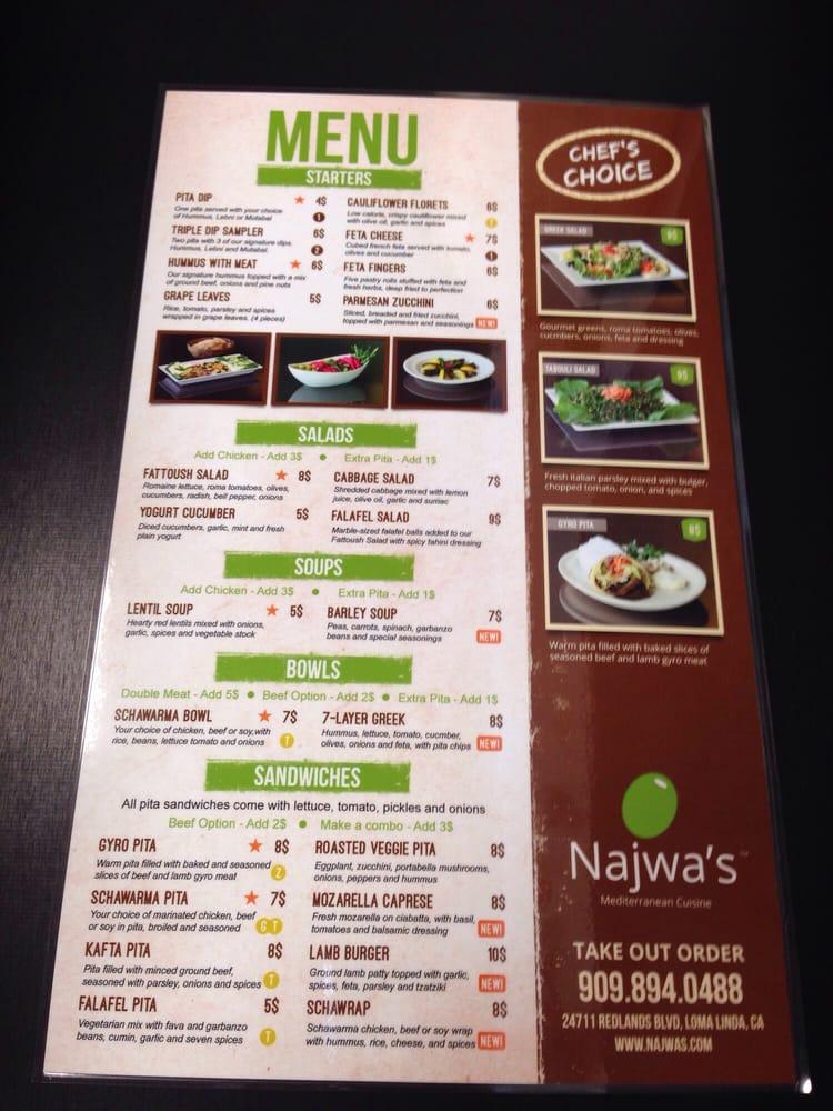 Menu yelp for Mediterranean restaurant menu