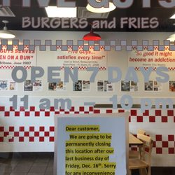 P O Of Five Guys Burgers And Fries Evanston Il United States This