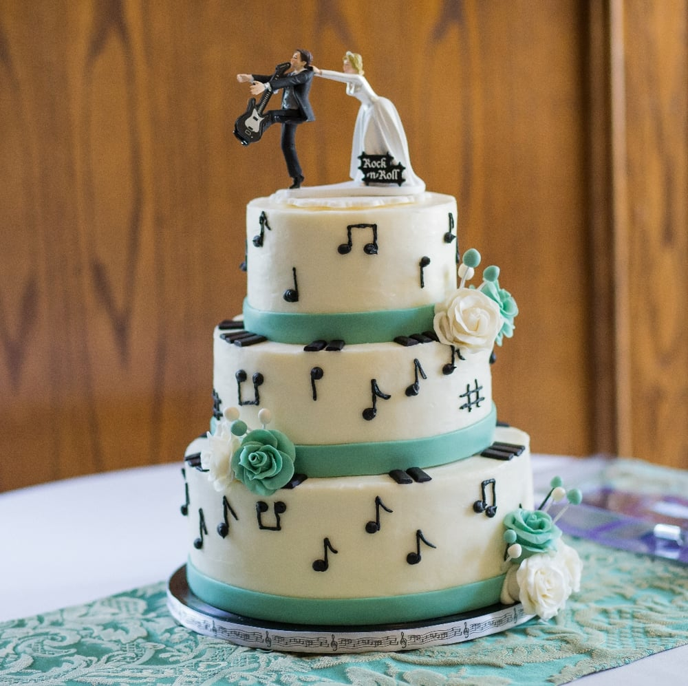 music themed wedding cake theme creation cake with buttercream filling and 17667