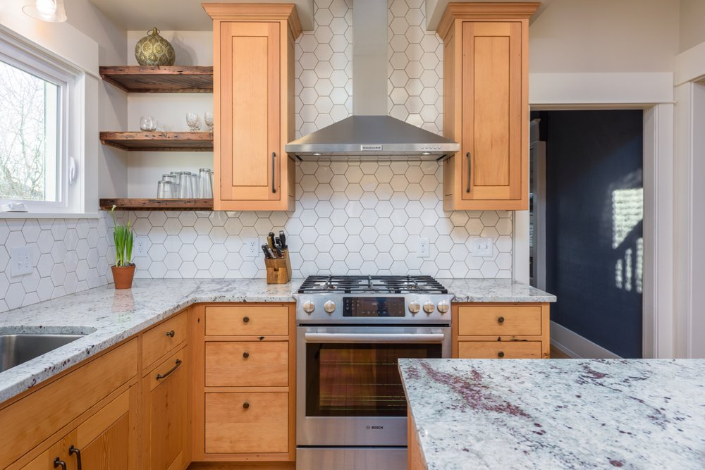 Superbe Photo Of Chuckanut Builders   Bellingham, WA, United States. Granite  Countertops, Hexagonal