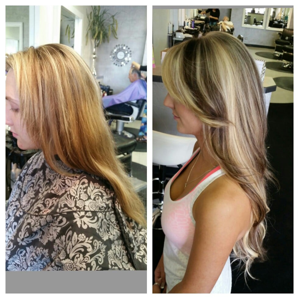 Before and after photo of multi dimensional color and hotheads photo of coco marie salon westminster co united states before and after pmusecretfo Image collections