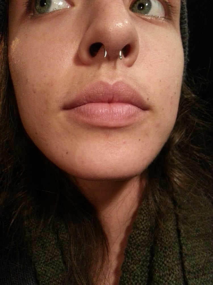 Re Piercing Of My Septum With Gold Retainer Yelp