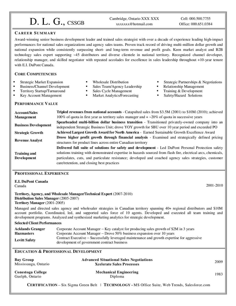 Professional Resume Writing Services Personal Sample Work