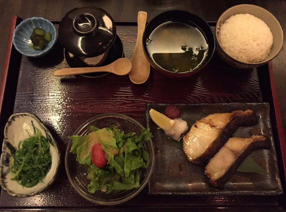 Grilled miso cod fish lunch set yelp - Modern japanese cuisine ...