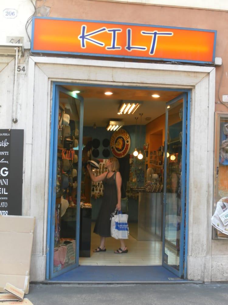 Kilt abbigliamento via del corso 54 centro storico for Corso roma abbigliamento