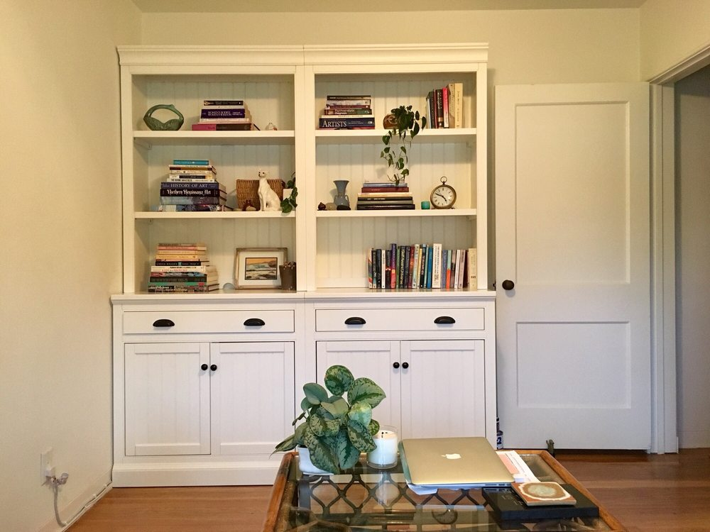 Perfectly Installed Bookcases Flush With The Wall And