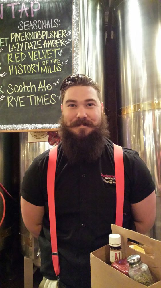 Photo of Rochester Mills Beer - Rochester, MI, United States. DUSTIN is showing his classy beard for November!