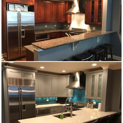 Photo Of Cooku0027s Kitchen Cabinet Refinishing   Brookfield, IL, United  States. Our Kitchen
