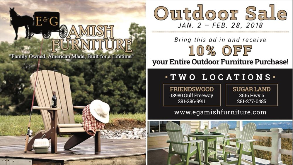E g amish furniture 37 photos magasin de meuble for Affordable furniture gulf fwy
