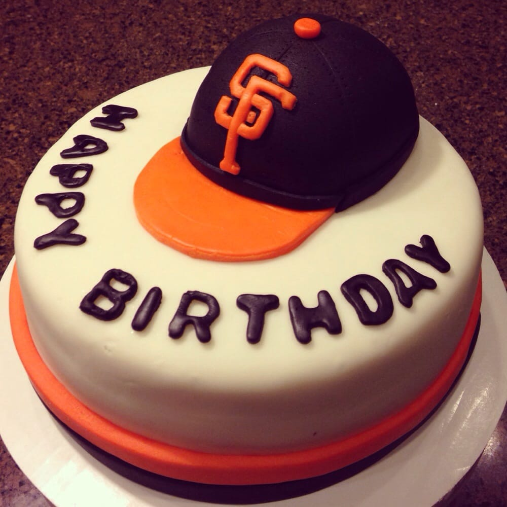 Sf Giants Themed Birthday Cake Fondant Yelp
