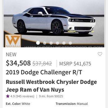 Van Nuys Dodge >> Russell Westbrook Chrysler Dodge Jeep Ram Of Van Nuys 274 Photos
