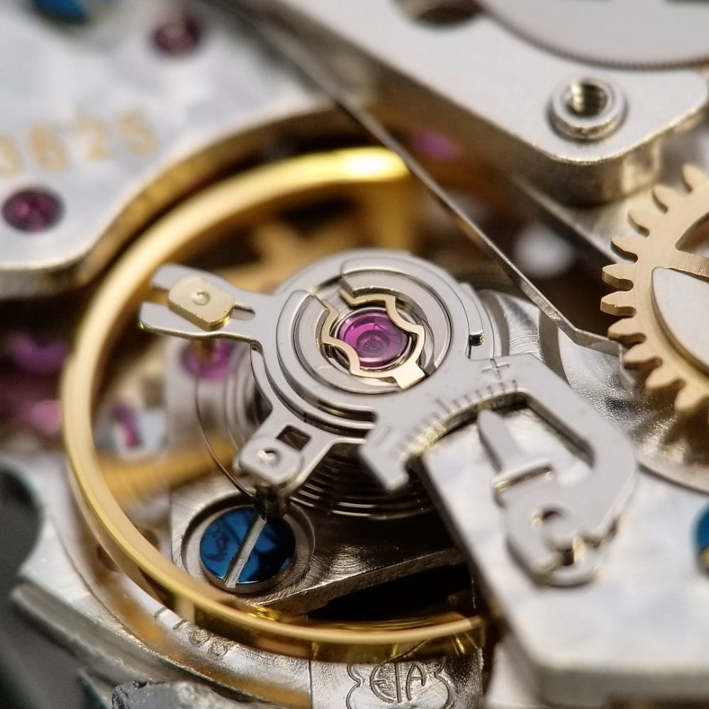 ETA 7750 balance wheel close-up Panerai Watchmaking at Manhattan