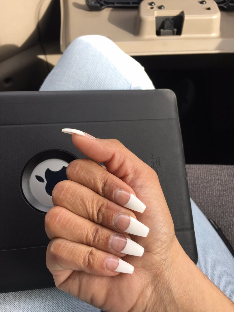 Coffin shape white tip. So perfect! By Cindy.. - Yelp