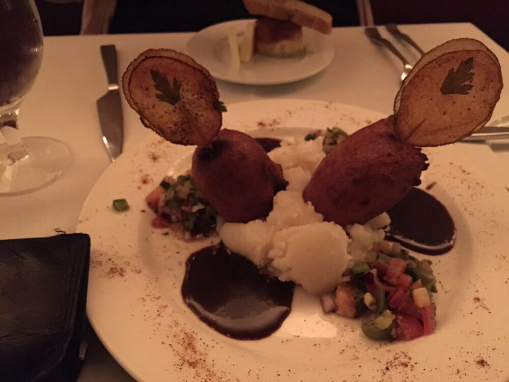 The andouille corn dog entree. Fantastic! - Yelp