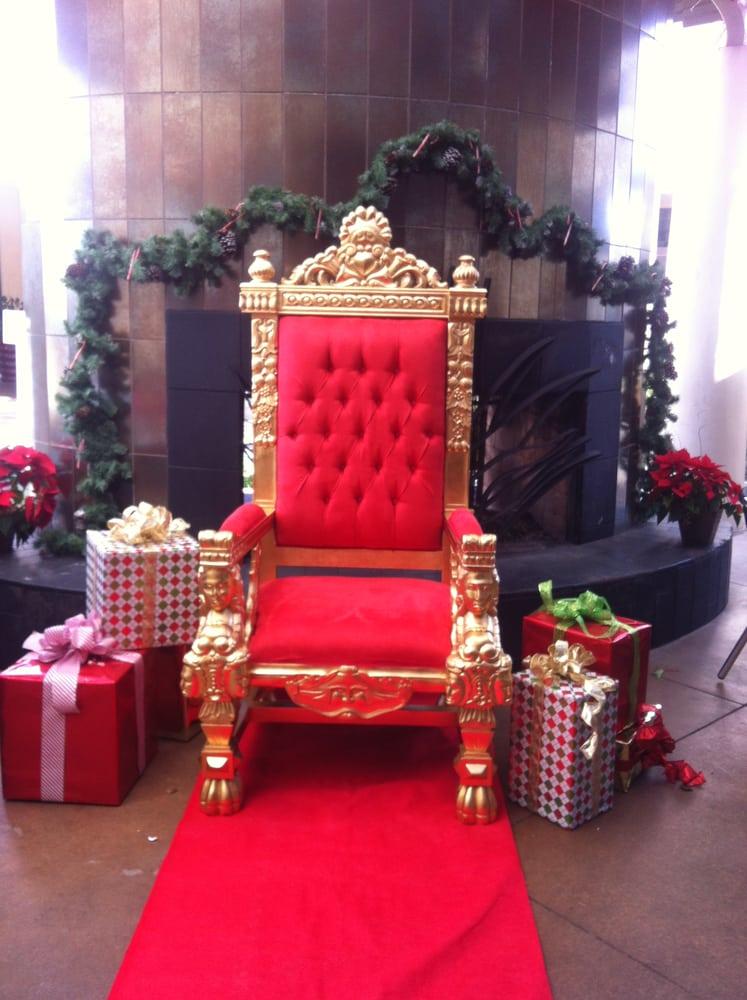 Terrific Santa Chair Gorgeous Gold Leafed Throne W Red Suede Inzonedesignstudio Interior Chair Design Inzonedesignstudiocom