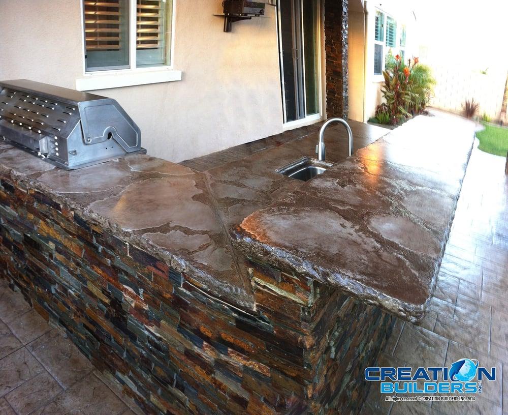 Stampedconcrete Concrete Bbq Outdoor