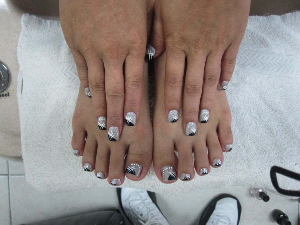 Matching nails and toes design - Yelp