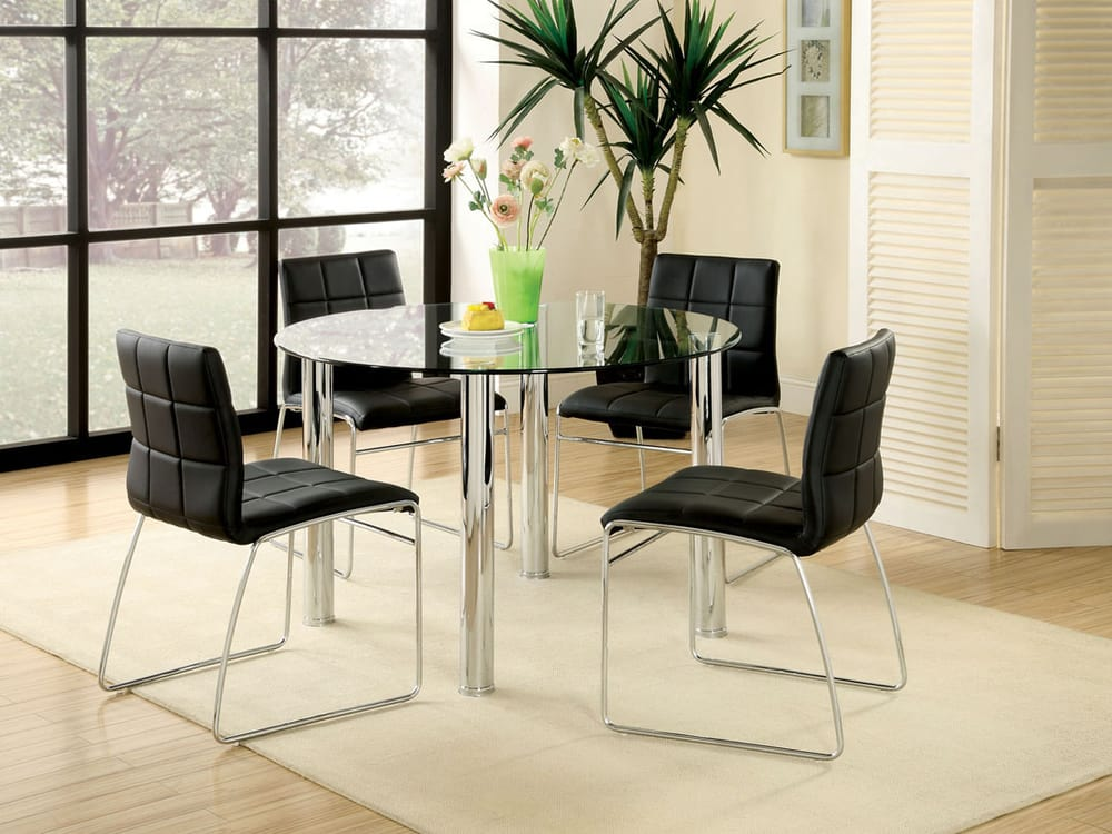 Round Glass Dining Table Vancouver BC