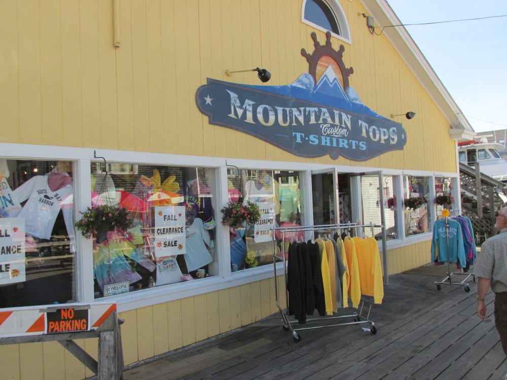 Mountain Tops Custom T Shirts: Pier 1, Boothbay Harbor, ME