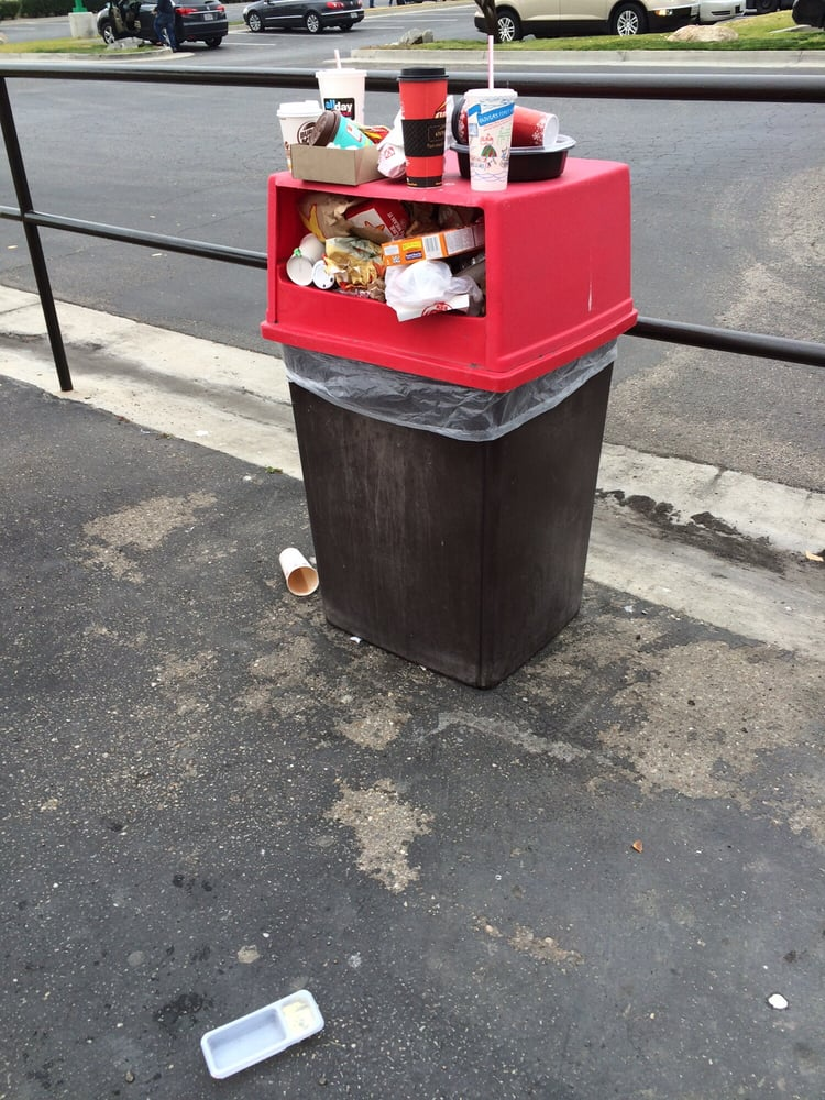 Washington Dc Trash Picture Of Overflowing Garbage Can On Streets During