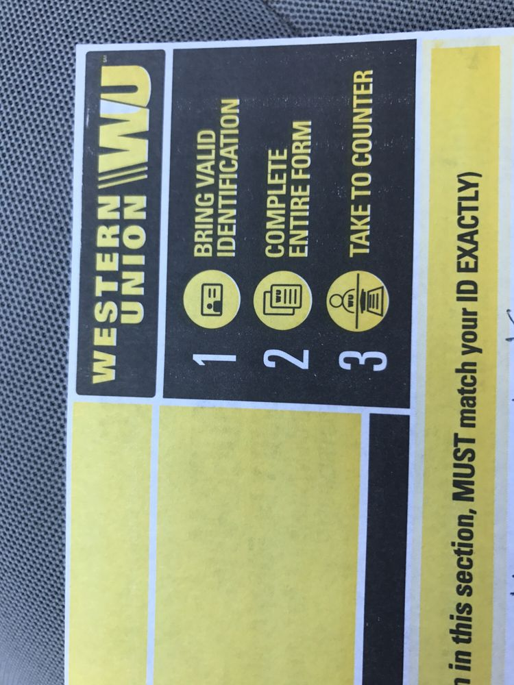 Places to receive western union near me