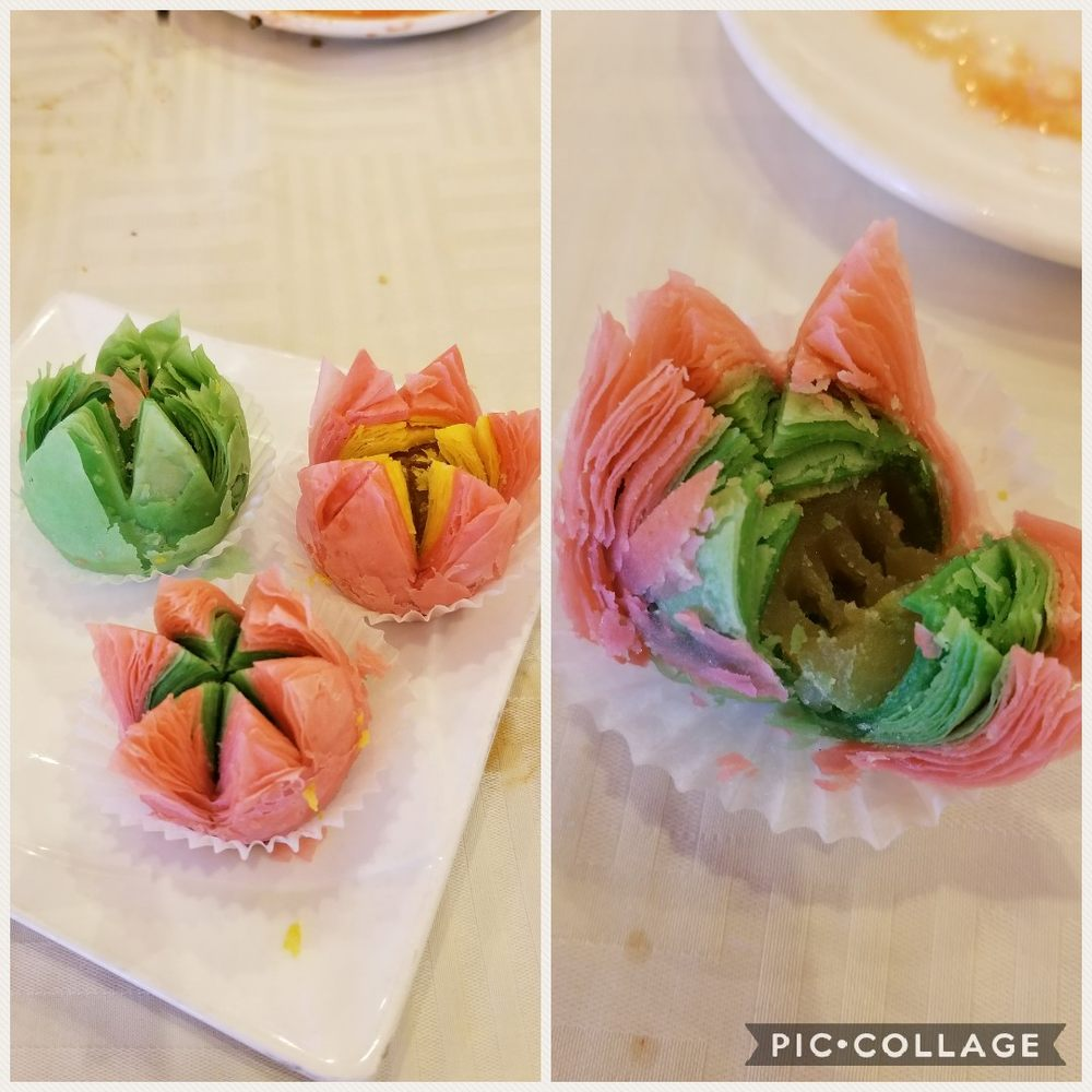 Lotus Flower Shape Dessert Buns Newest Addition For 2018 Chinese